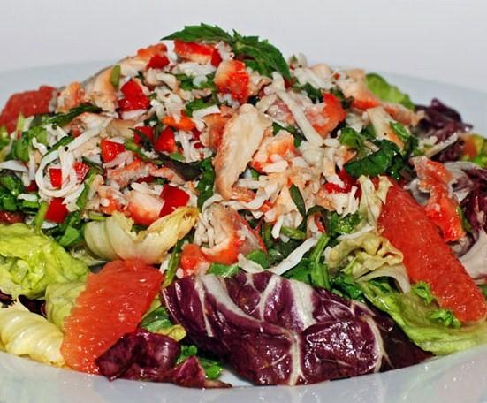 Салат из краба консервированного